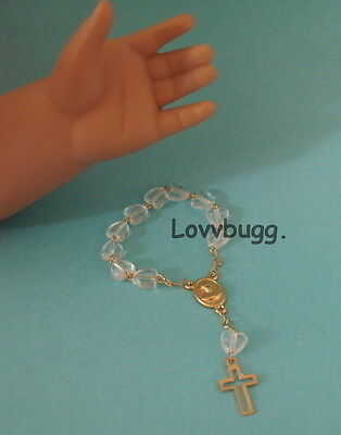 "Lovvbugg Mini Rosary Clear or 18"" American Girl Doll Lovvbugg Accessory"