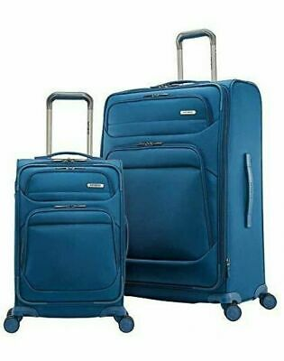 New Samsonite Epsilon NXT 2-piece Softside Spinner Luggage Set Blue