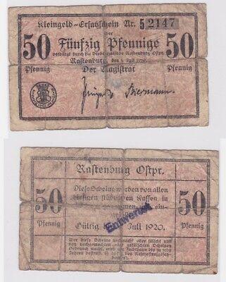 50 Pfennig Banknote Notgeld Stadt Rastenburg 1.Juli 1919 (122006)