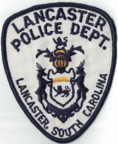 Lancaster Police Dept. SC VINTAGE!!!! Police Patch South Carolina SC
