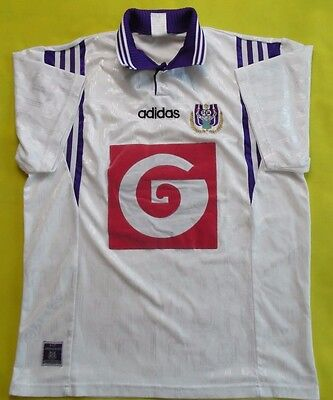 4.5/5 ANDERLECHT BELGIUM 1996~1997 FOOTBALL SHIRT JERSEY HOME ADIDAS ORIGINAL  image