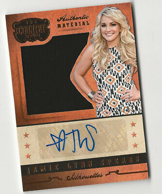 Jamie Lynn Spears 2014 Panini Country Music Silhouettes Autograph Relic Card - Country Music Costumes