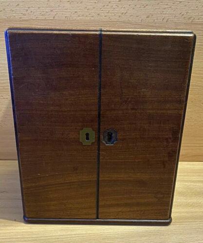 Antique Campaign Travel Medicine Apothecary Cabinet Secret Poison Compartment