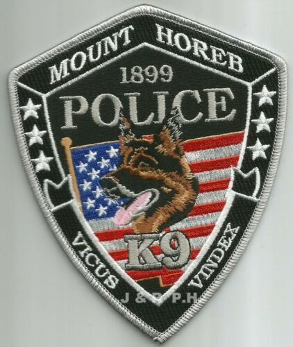 Mount Horeb  K-9 Unit, WI  shoulder police patch (fire)