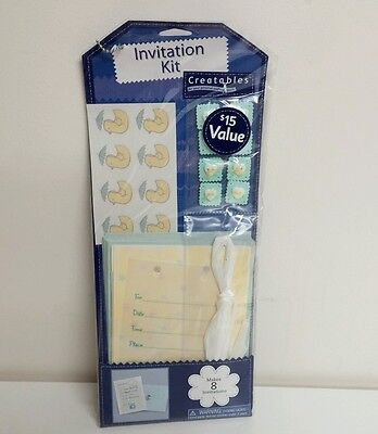 - Creatables Invitation Kit Makes 8 Cards Baby Shower Scrapbooking Gift