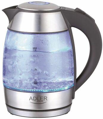 Hervidor de Agua Vidrio 1,8 EL 2200W Con Filtro Ducha Mano Antical...