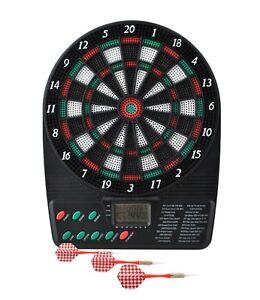 Elektrisches Dartspiel Dartscheibe Dartboard Incl. Pfeile Turnier Neu #1393