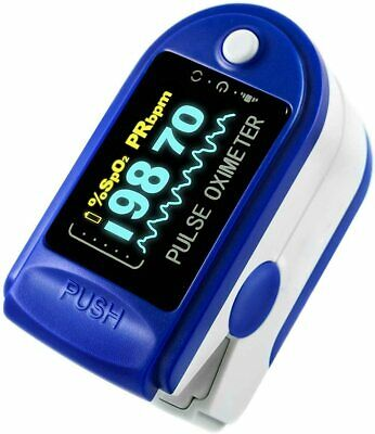Oximeter Finger Pulse Blood Oxygen Saturate Spo2 Meter Pr Fingertip Monitor