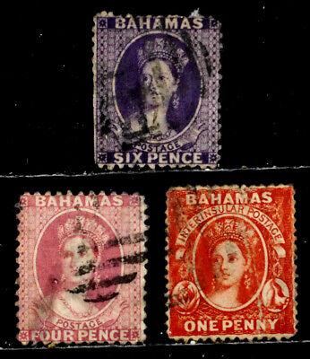BAHAMAS, BRITISH: CLASSIC ERA STAMP COLLECTION VICTORIA SCOTT #14, 16, 21 CV $180
