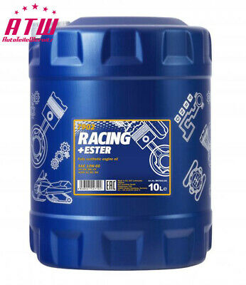 10 LITER MANNOL Vollsynthetisch Motoröl SAE 10W 60 Racing + Ester  API SN / CH-4