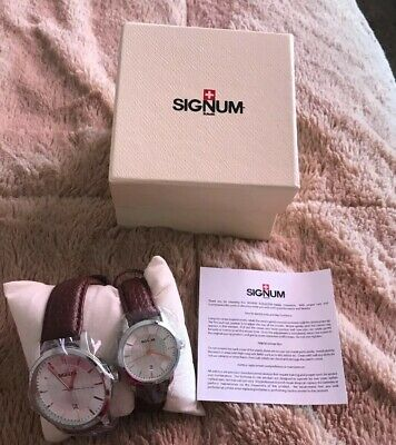 NIB Signum Suisse Men's And Women's Watches