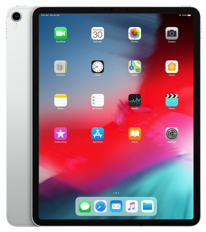 Apple 12.9-Inch iPad Pro (Latest Model) with Wi-Fi + Cellular 1TB Silver MTL02LL/A