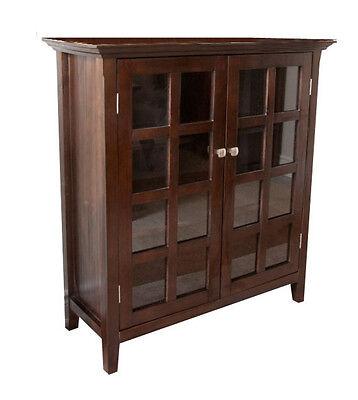 Simpli Home Acadian Collection Tobacco Brown Medium Storage Media Cabinet & ...