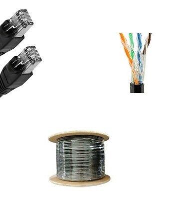 - 150'Ft Cat5e Gel Outdoor Direct Burial Flood Cable Waterproof Network Ethernet
