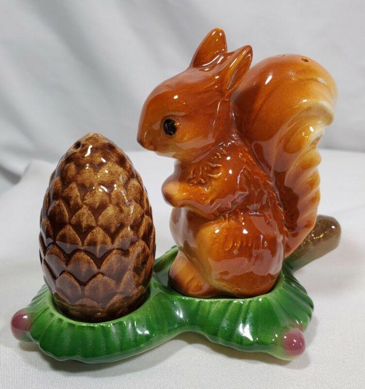Cute Vintage Goebel Germany Squirrel with Acorn Salt & Pepper Shakers