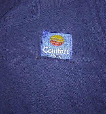 Mens Size Medium Blue Comfort Inn Polo Shirt