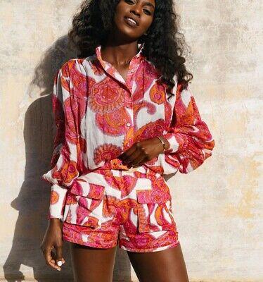 NEW Zimmermann Peggy Paisley Floral Blouse 100% Linen Summer