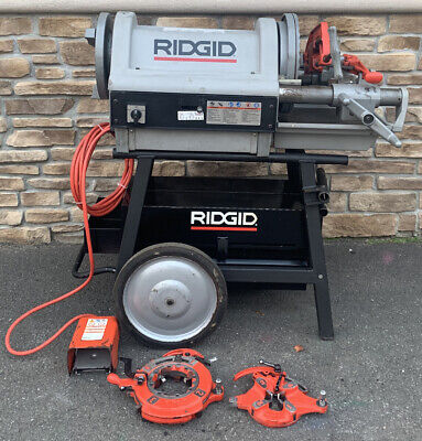 Ridgid 1224 Pipe Threading Machine 2 Die Head 711 714 Rolling Stand Awesome 1