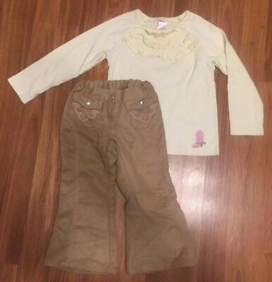 GYMBOREE GIRLS OUTFIT Cowgirl Western Sz 3 4 Shirt Pants Boots MINT FastShip](Western Cowgirl Outfits)
