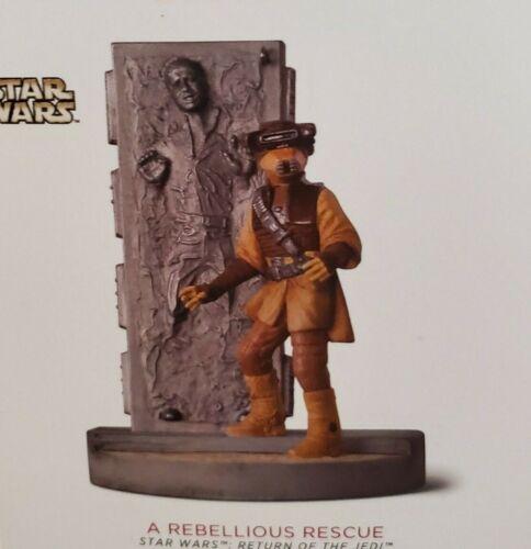 2018 Hallmark Orn.STAR WARS 2018 A REBELLIOUS RESCUE~HAN in Carbonite-Leia Boush