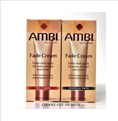 AMBI Skincare Fade Cream NORMAL OR OILY SKIN 2oz Ambi Skin Care Products