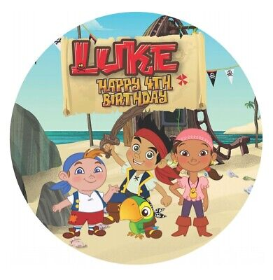 Jake And The Neverland Pirates Edible REAL Icing Birthday Cake Topper A4 or