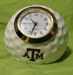 Texas A&M Aggies Golf Ball Desk Clock Ridgewood Collectibles #541TA