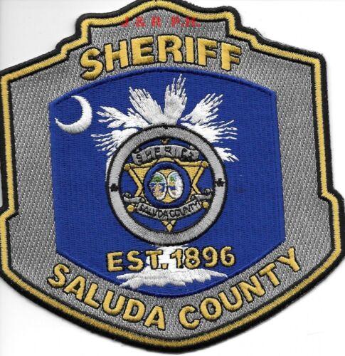 "Saluda County Sheriff, SC  (5"" x 5"" size) shoulder police patch (fire)"