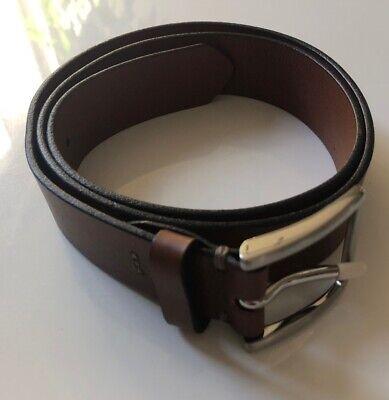 Express Shop (Express Mens Shop Brown Size 34/36 Genuine Leather Dress Belt  )