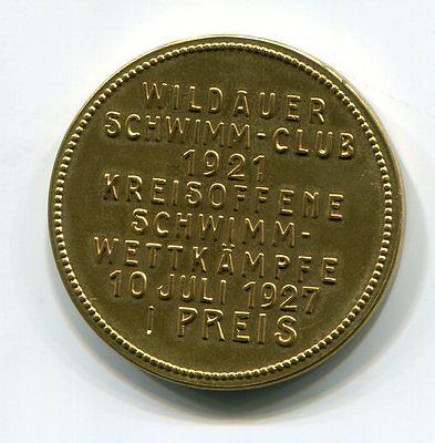 DSV-Medaillie von 1927 vom Schwimm-Club Wildau I.Preis Kreisoffener Wettkampf