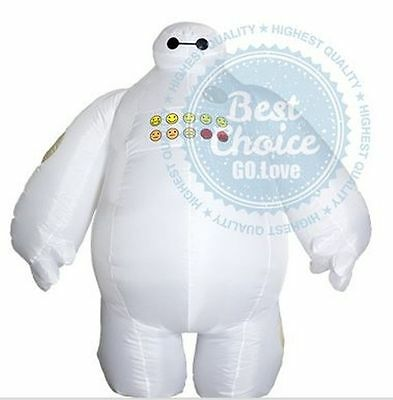 Big Inflatable Suit (NEW Big Hero 6 Inflatable Baymax fancy suit costume cloth Baymax)