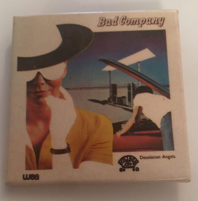 "Bad Company Original 1979 Desolation Angels Tour Vintage Stickback 2"" Button Pin"
