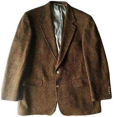 Lands' End Harris Tweed Scottish Wool Blazer Jacket  44R - 2 Button Single Vent
