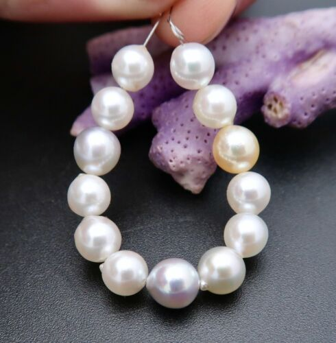 RARE AAA HIGH GRADE JAPANESE AKOYA PEARLS SILVER WHITE CREAM GOLD IRIDESCENT