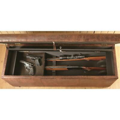 Concealment Gun Firearm SAFE CABINET STORAGE WOOD BENCH American Home Furniture