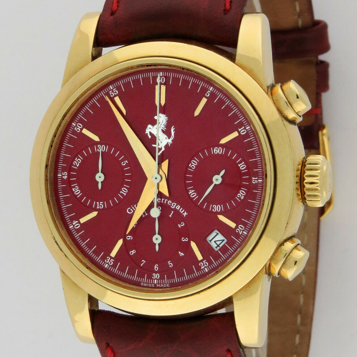 Girard Perregaux Ferrari 18K Gold Automatic Chronograph 8020 Red Dial 38mm Watch - watch picture 1