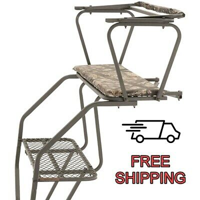 Two Man Ladder Tree Stand 18' Game Stands Gun Bow Hunting Harness Deer 2 -