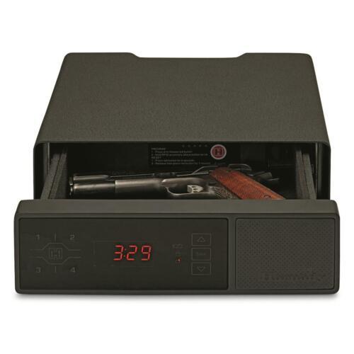 Hornady RAPiD Safe, Night Guard RFID Pistol Safe, Steel, Black, Clock - 98215