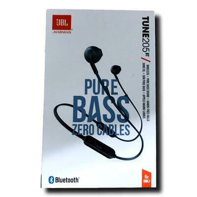 JBL Tune 205 BT in-Ear, Wireless Bluetooth Headphone, Blue, Authentic Sealed New for sale  Shipping to India