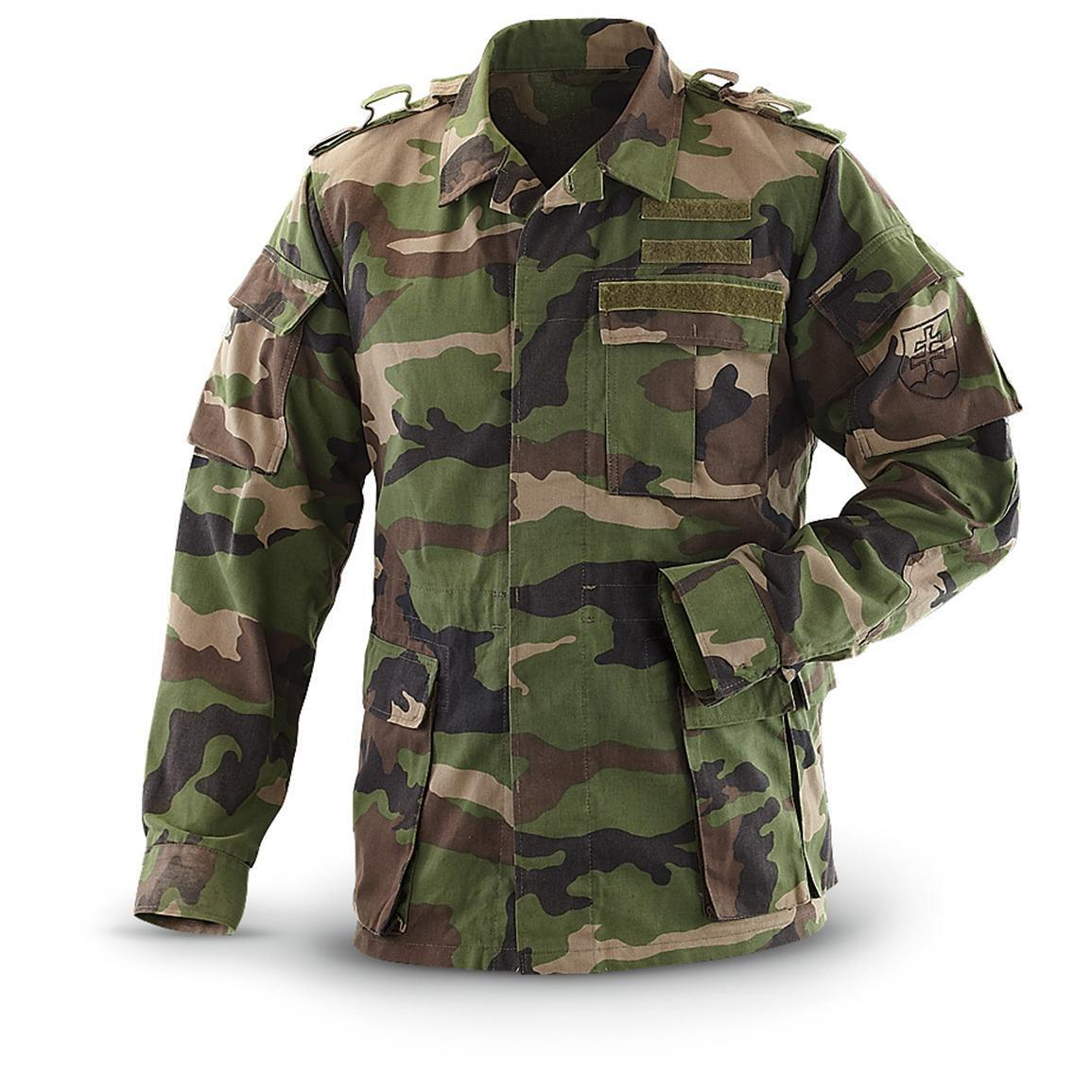 Genuine CZECH SLOVAKIAN Army M97 UNLINED Woodland Camo Field Jacket GRADE  1. Grade 2 condition available with visible repair. 0332d409701