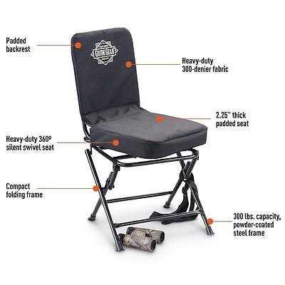 Portable Swivel Hunting Chair Folding Deer Stool Turkey Padded, NEW!