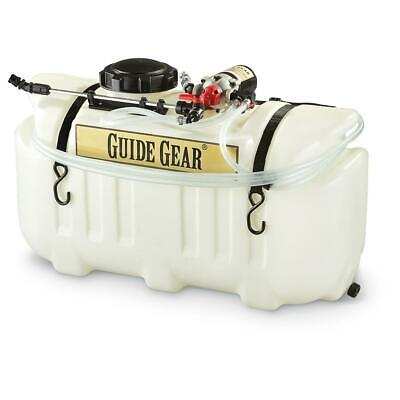 26 Gallon Atv Broadcast And Spot Sprayer 2.2 Gpm Garden Lawn Fertilizer Spreader