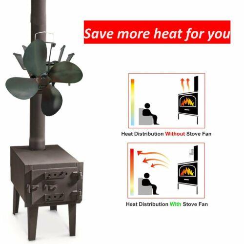 wood stove fan heat powered fireplace log