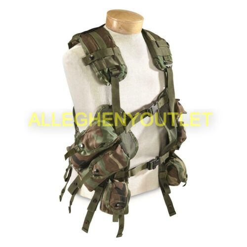 US Military Load Bearing Vest, Enhanced, Woodland BDU Camo Tactical Vest LBV GC