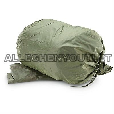 QTY (2) US Military Waterproof Wet Weather Laundry Clothing Bags w/ Strings NEW