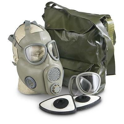 Czech M10 Gas Mask with Filters and Carry Bag