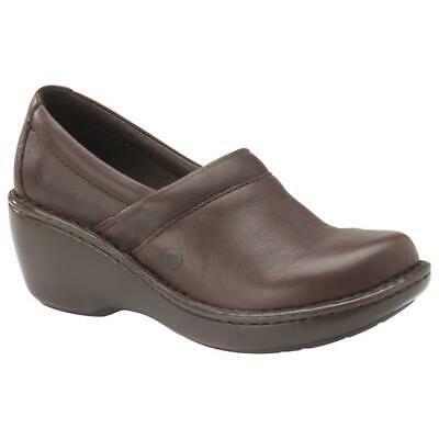 Born Women's Moritz Leather Brown Closed Back Clogs Size EU  38 US 7