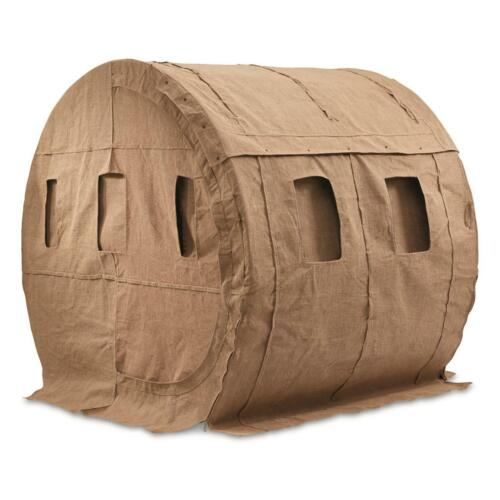 Ground Blind Bale Heavy Duty Steel Frame Water Resistant Burlap Shell Zippered