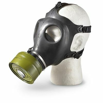 Israeli Gas Mask New Black Military Teargas & NBC NATO 40mm Filter- Never Worn!
