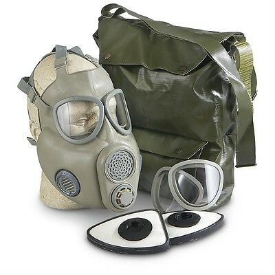 NEW! Premium Czech M10 Gas Mask w/Genuine Sealed Filters Full NBC Protection Tan
